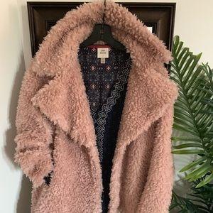 Faux teddy coat